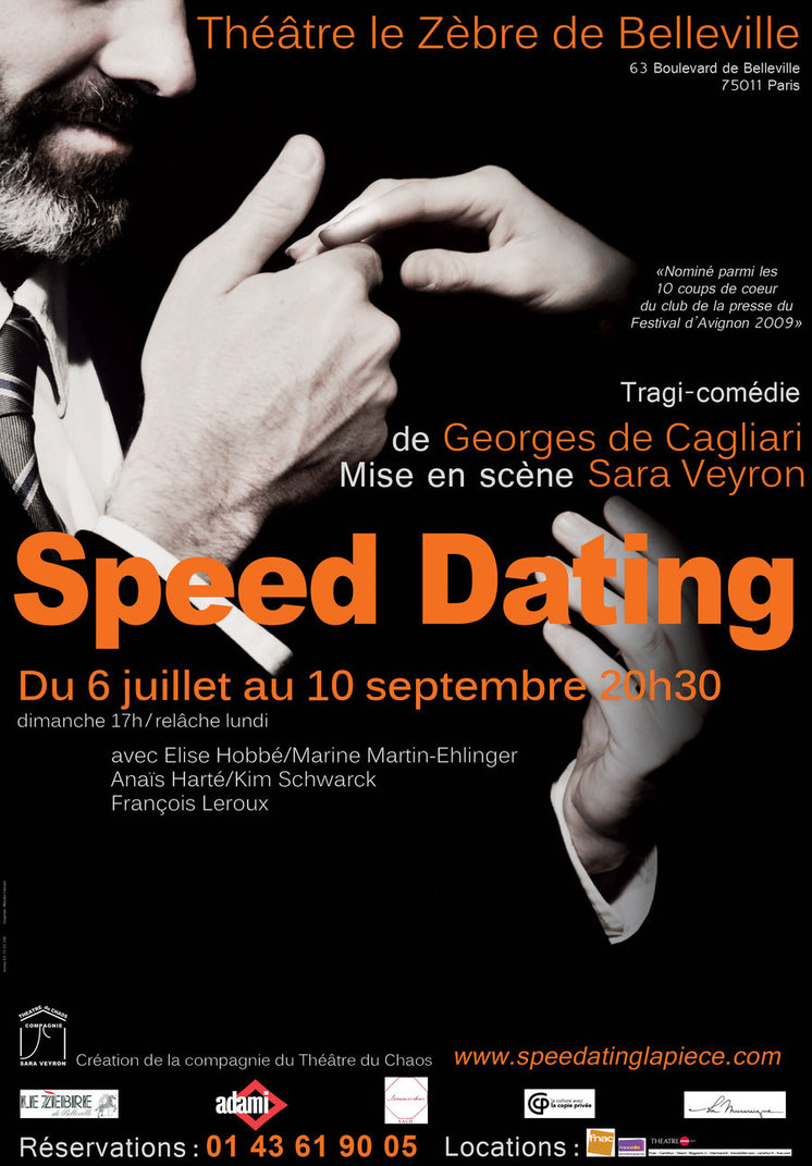 Affiche  Speed Dating Théâtre du chaos