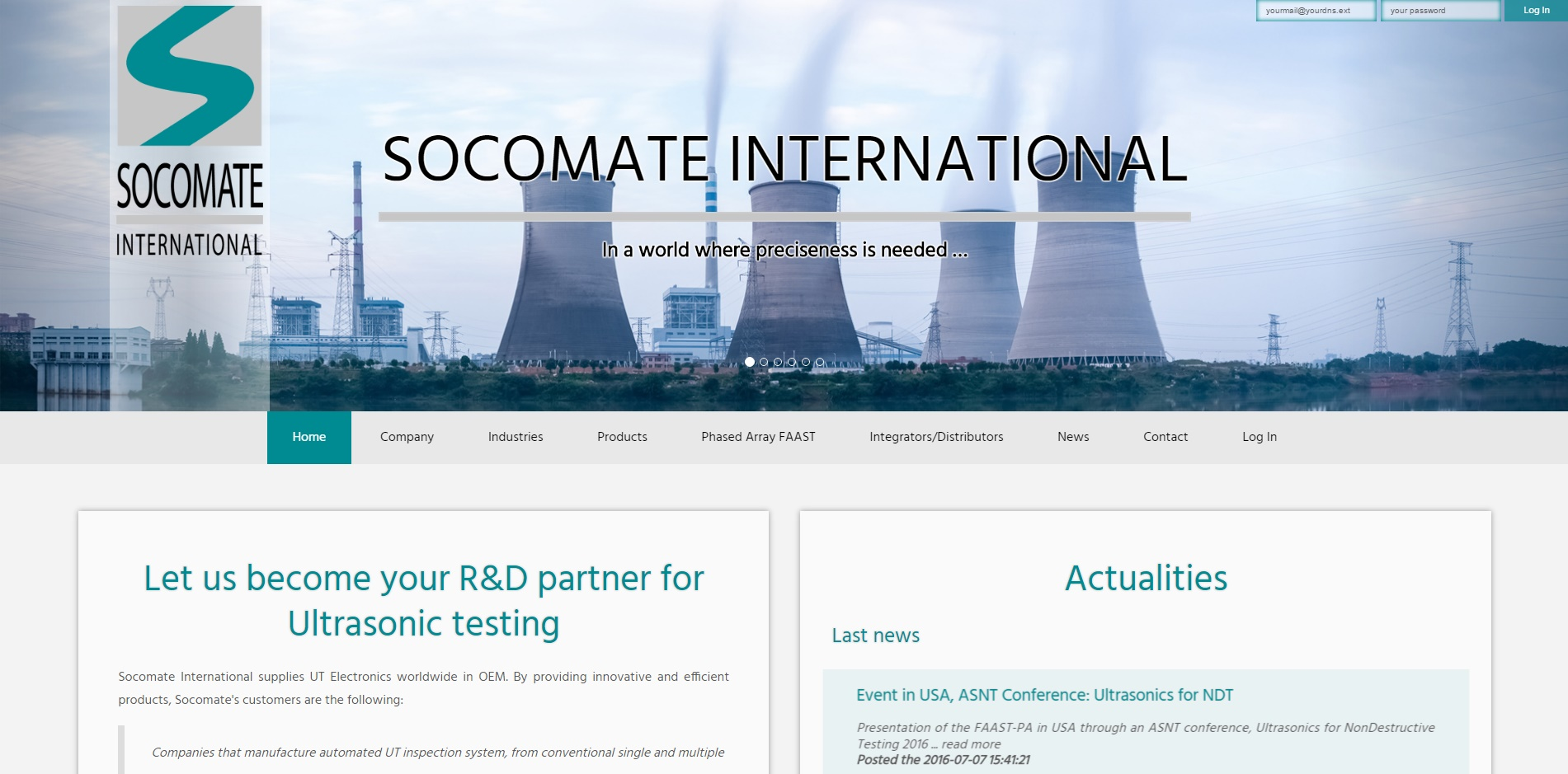 Création site internet socomate - international webmcrea