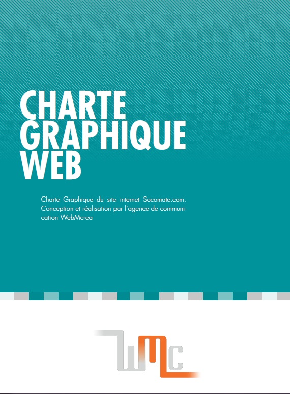 Charte graphique du site internet socomate.com