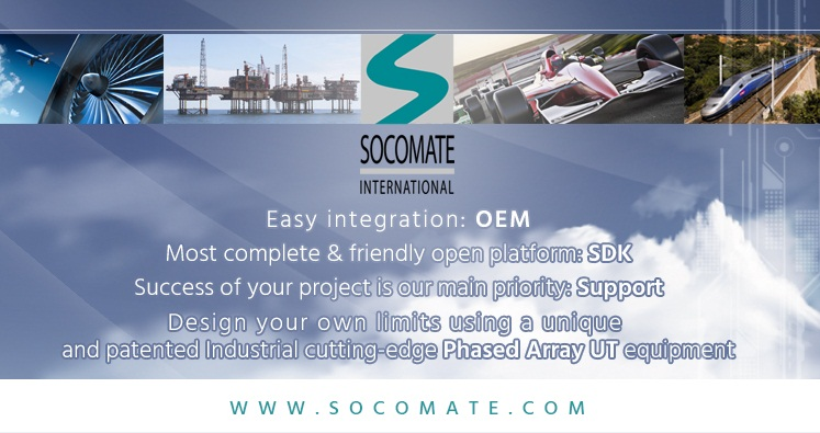 Bannière promotionnelle pour l'entreprise Socomate international