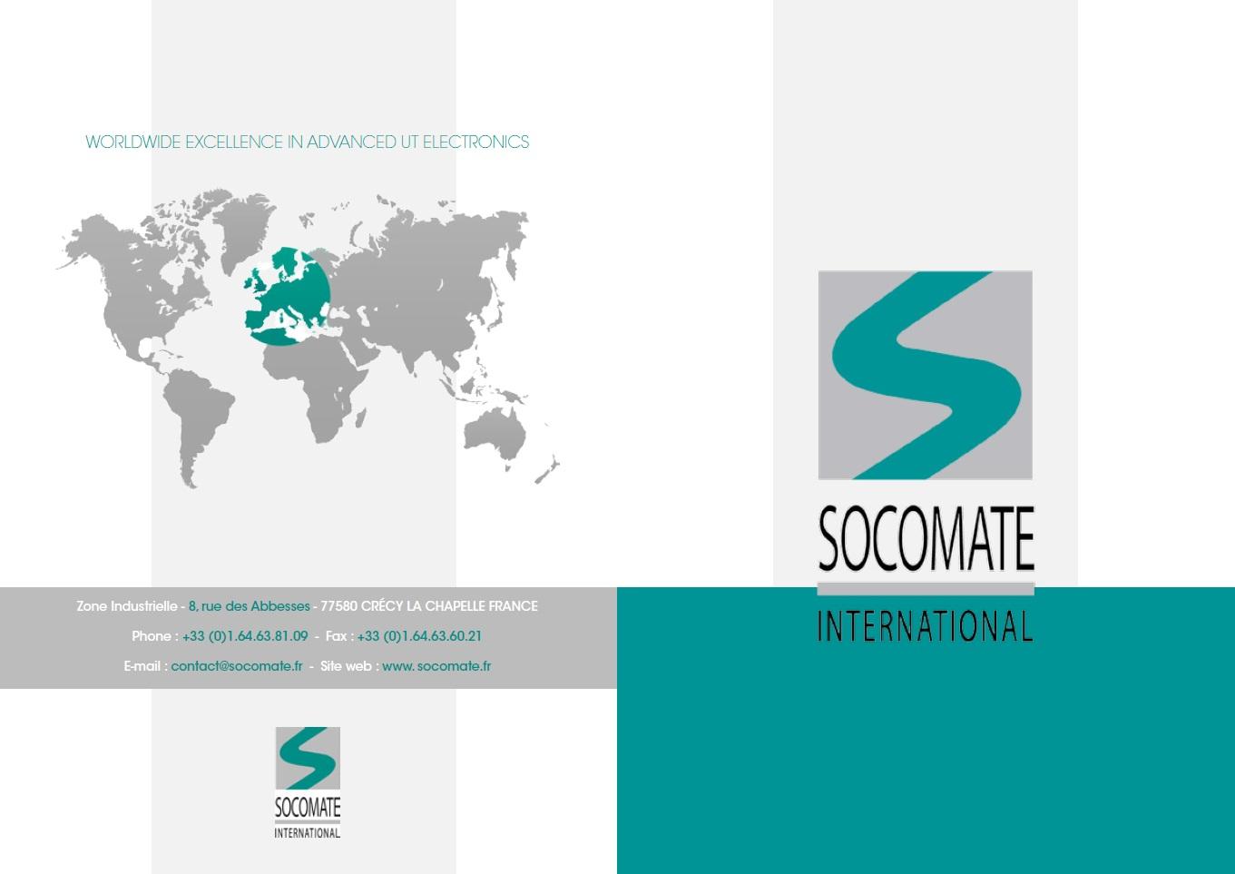 Création Pochette promotionnelle pour Socomate international