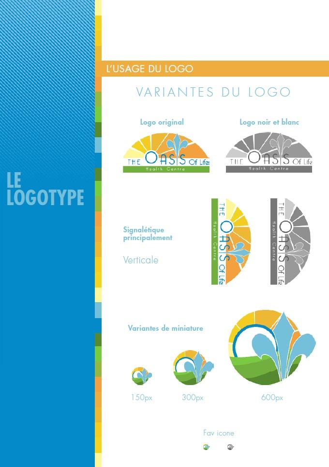 Création d'une charte graphique pour le logo de The Oasis of life health centre